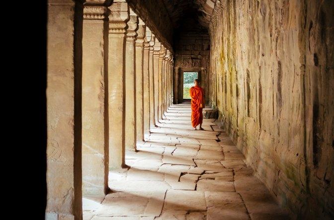Monk in Corridor